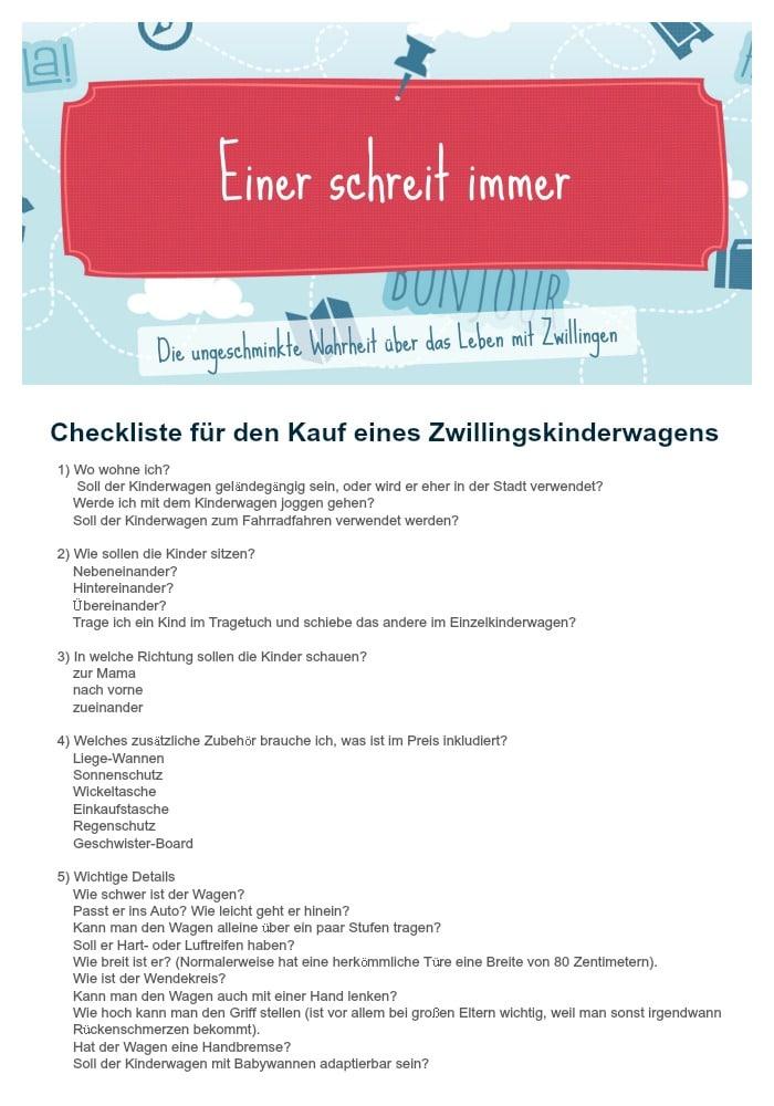 Checkliste_Zwillingskinderwagen