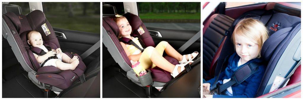 Erst Reboarder, dann ganz normaler Kindersitz: Es gibt Kindersitze, die vom Kreißsaal bis zur Einschulung verwendet werden können. Foto: DIONO