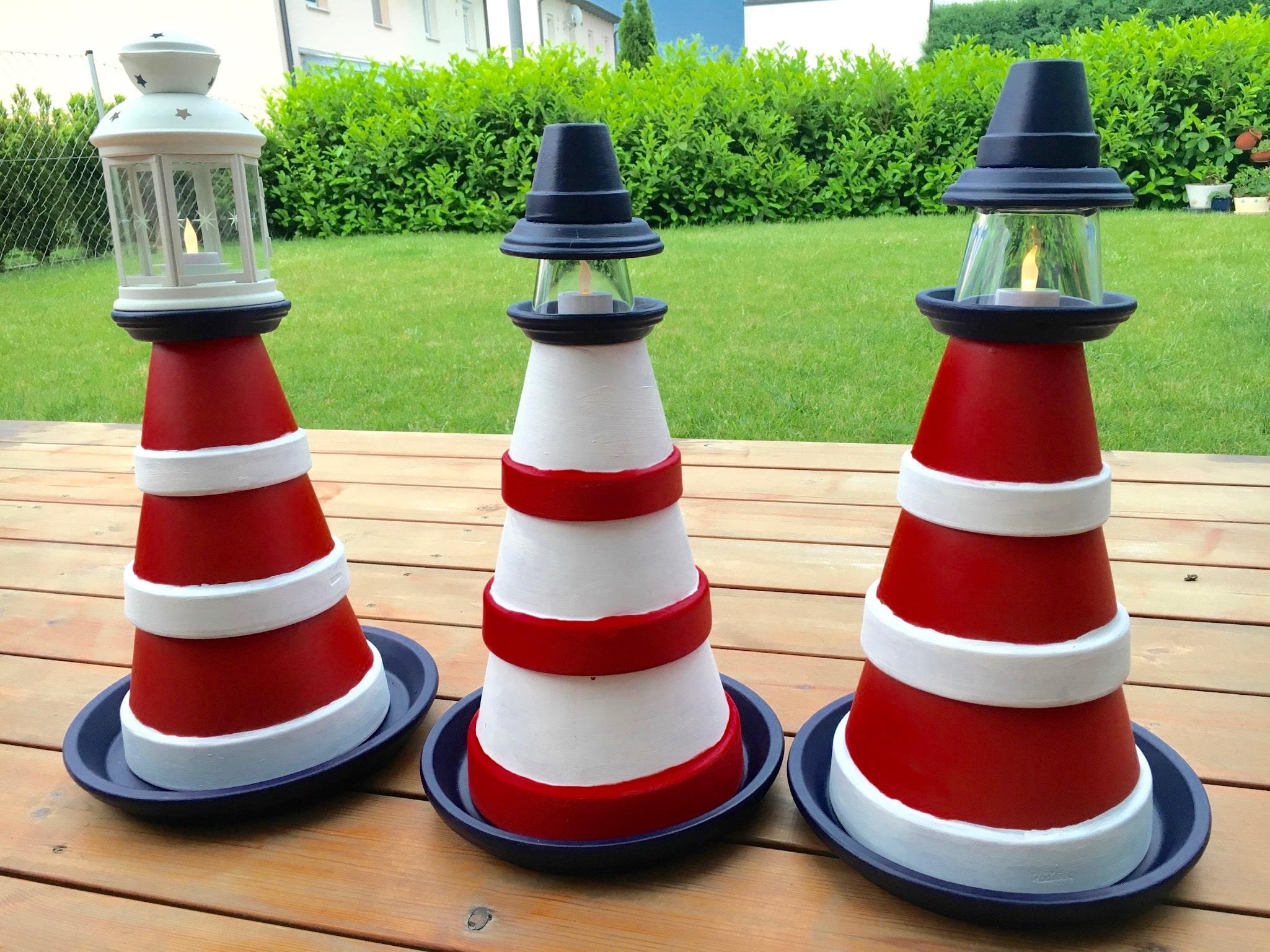 garten diy zum sommerbeginn bauen wir einen leuchtturm. Black Bedroom Furniture Sets. Home Design Ideas