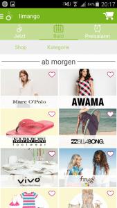 limango App Kommende Angebote