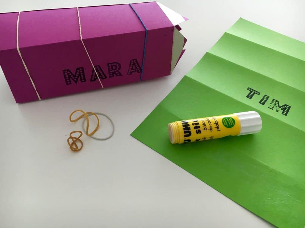 Stifte-Schultüte zusammenkleben