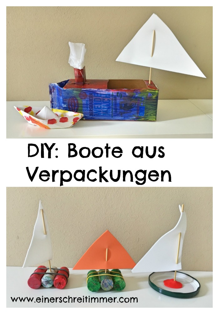 Boote aus Verpackungen selber machen