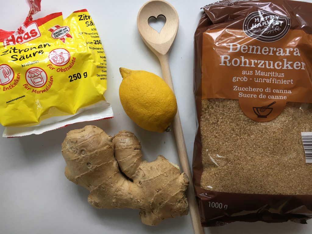 Mit den paar Zutaten gelingt jedem ein köstlicher Ingwersirup