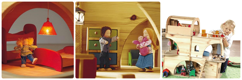 Das wunderschöne Puppenhaus lädt zum phantasievollen Spielen ein