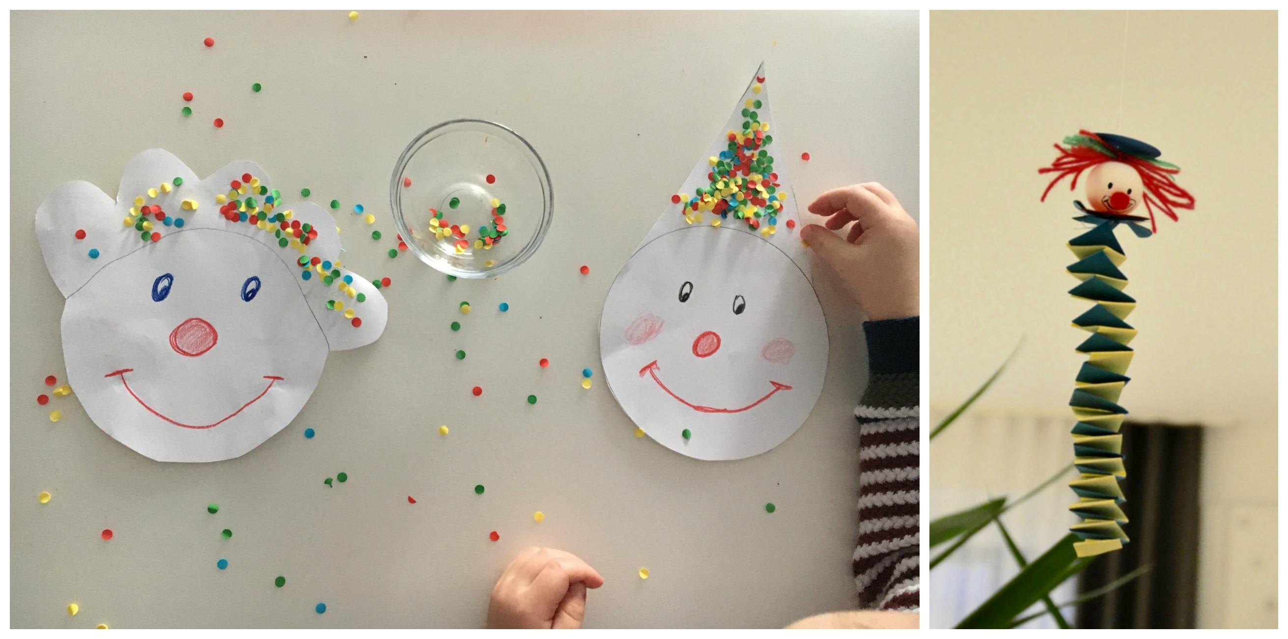 Basteln mit kindern faschingsclowns kinderleicht selbstgemacht mamablog einer schreit immer - Clown basteln kindergarten ...
