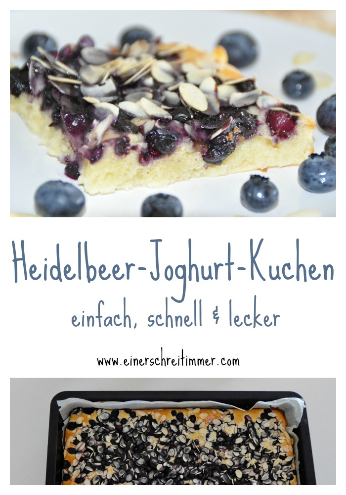 Schneller Heidelbeere-Joghurt-Kuchen vom Blech