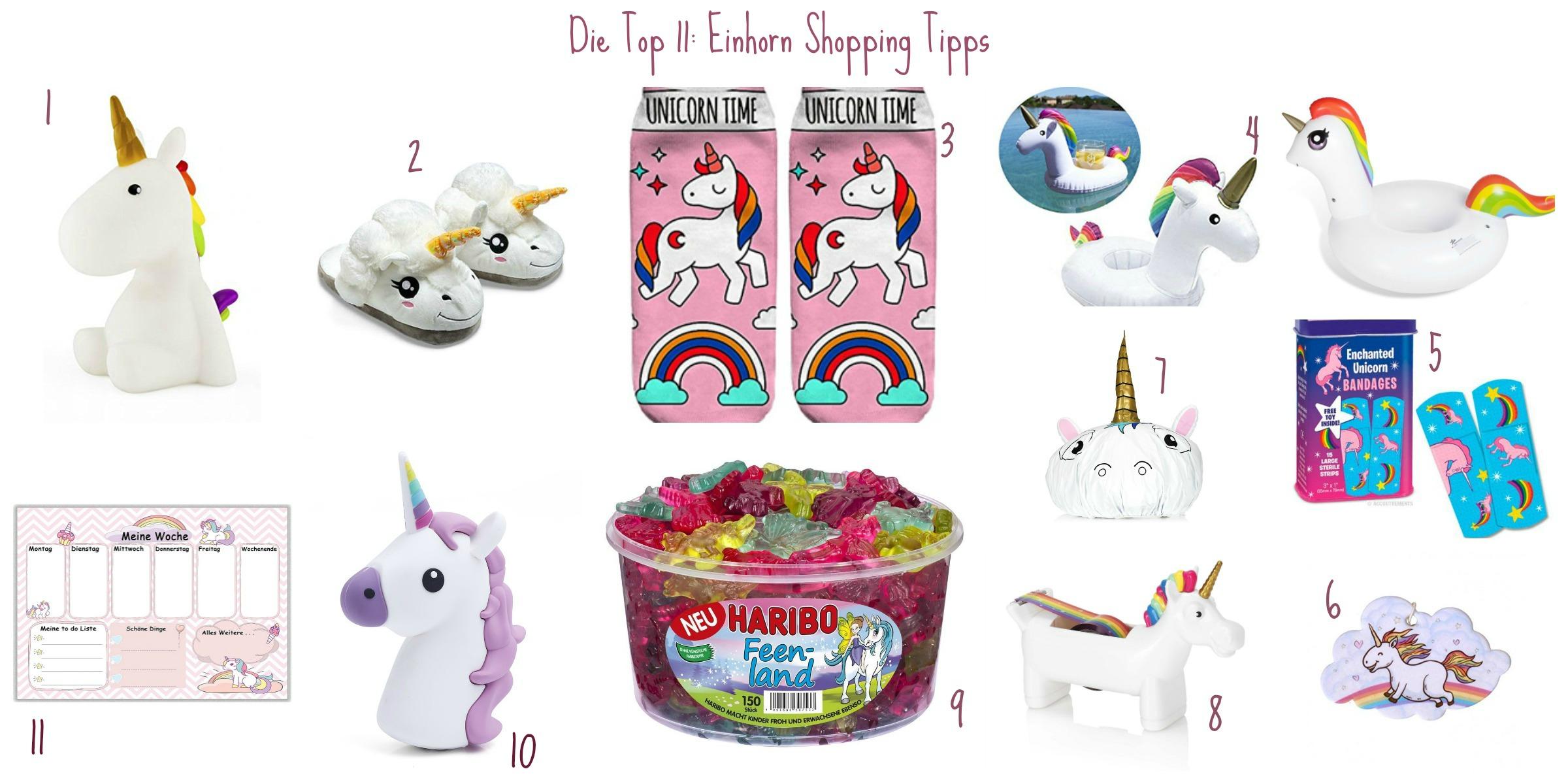Einhorn Shopping Tipps