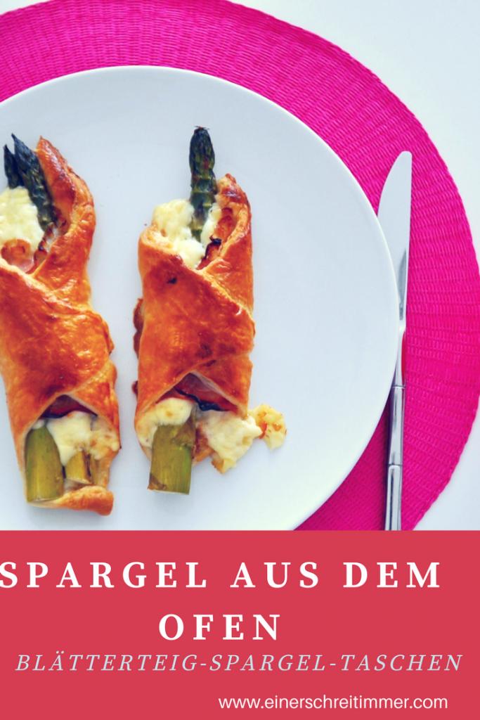 Rezept: Spargel aus dem Ofen - Blätterteig Spargel Taschen