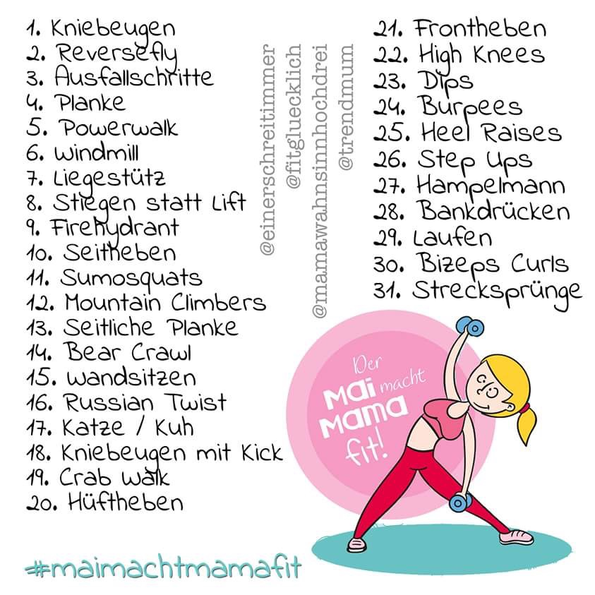 Instagram Fitness Challenge: Mai macht Mama fit