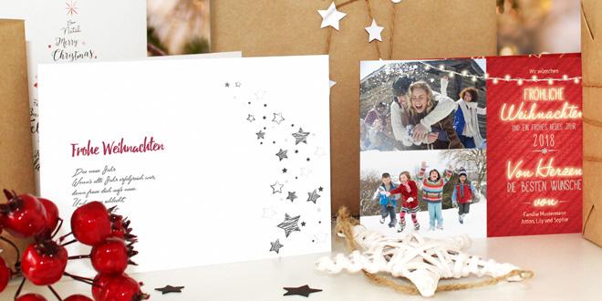 Unsere Sendmoments Weihnachtskarte