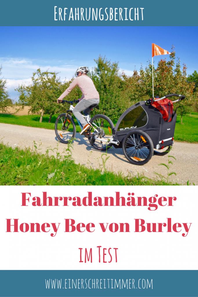 Test Erfahrungsbericht Fahrradanhänger Honey-Bee von Burley