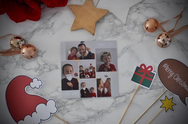 Unsere Sendmoments Weihnachtskarte mit dem Einerschreitimmer Photo Booth