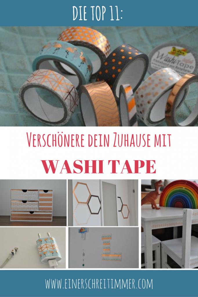 Top 11 WASHI TAPE Ideen: Verschönere dein Zuhause mit goldenem und kupferfarbenem Masking Tape