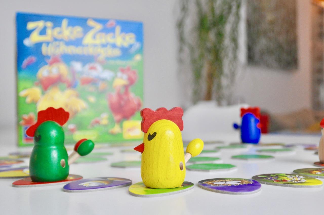 Familienspiel Zicke Zacke Hühnerkacke Test Beschreibung
