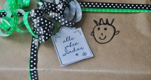 Geschenkanhänger Feebie & Weihnachten im Schuhkarton