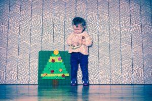 Weihnachts-Shooting mit Duplo Christbaum