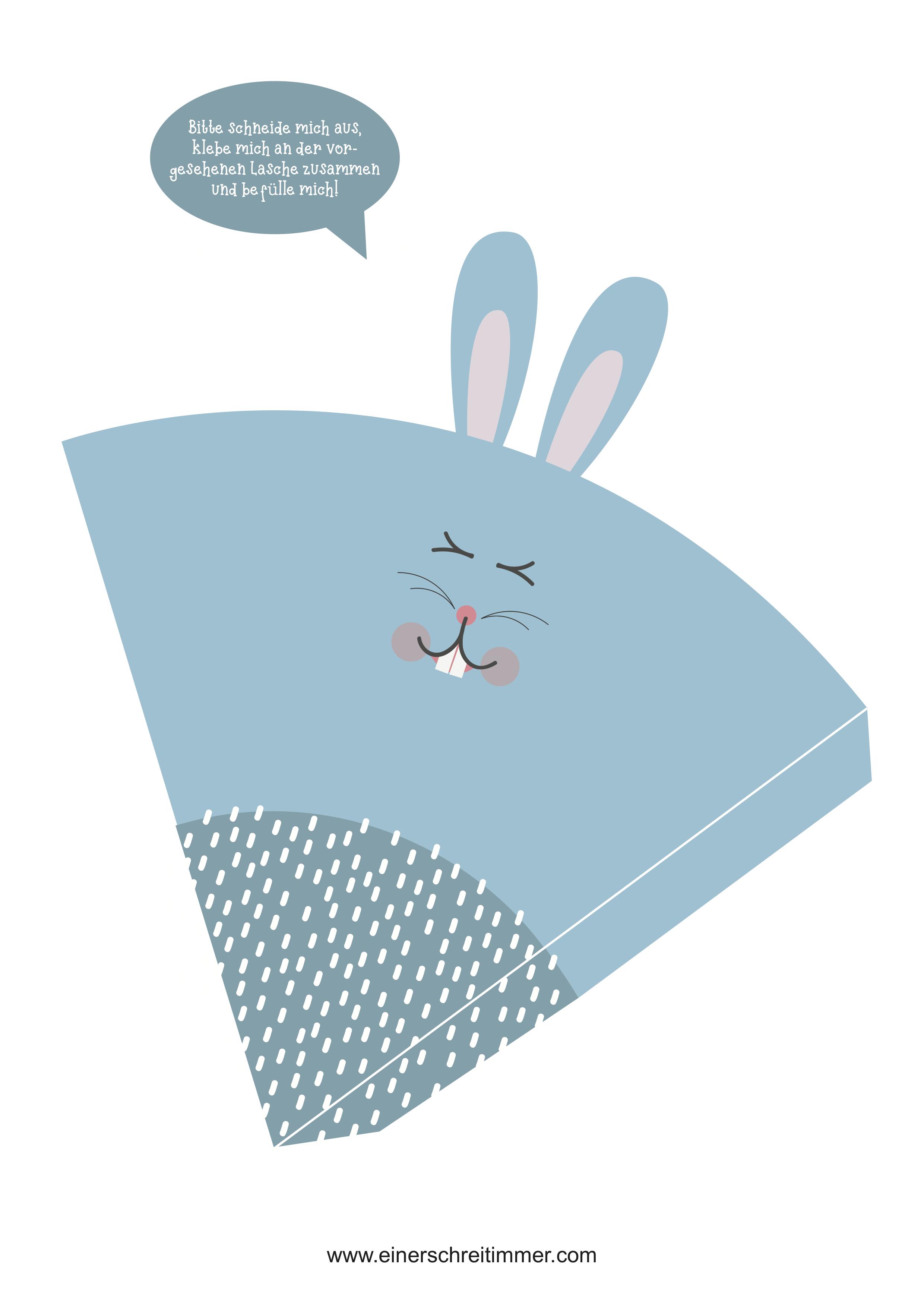 Ostertüte Hase Freebie gratis Download Ostern Osternest Einerschreitimmer