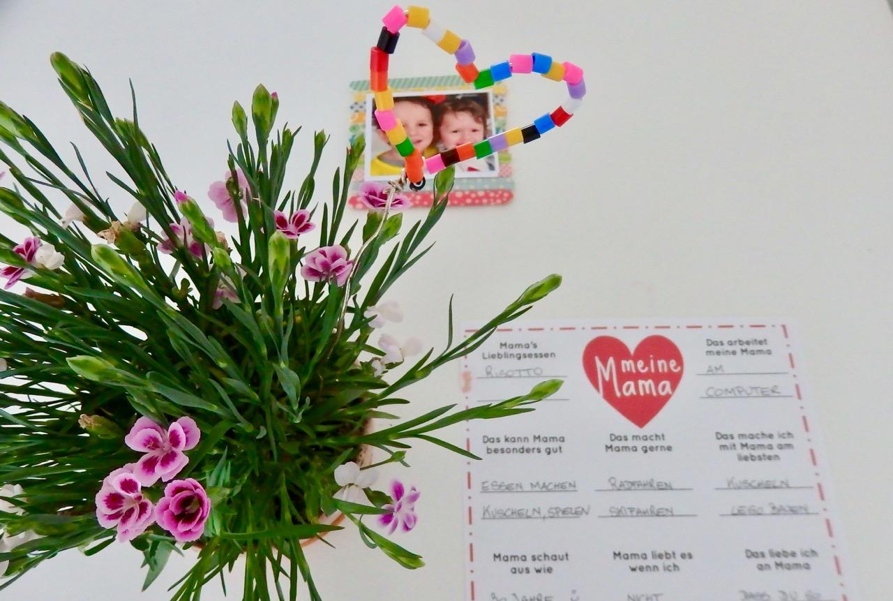 ☆ › Muttertags DIY mit Kindern inkl Mama-Fragebogen als Download