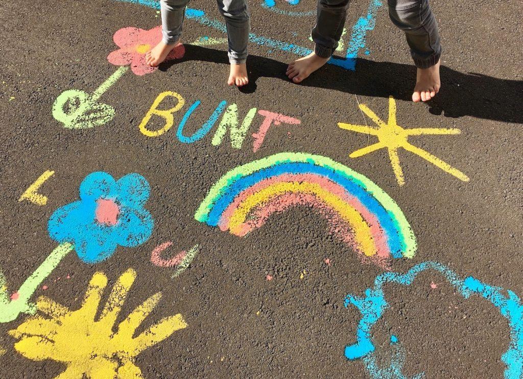 DIY: Wasserfarben für die Straßen-Malerei selber machen