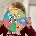 Wochenuhr Wochentage lernen Wochenkreis selbstgemacht DIY