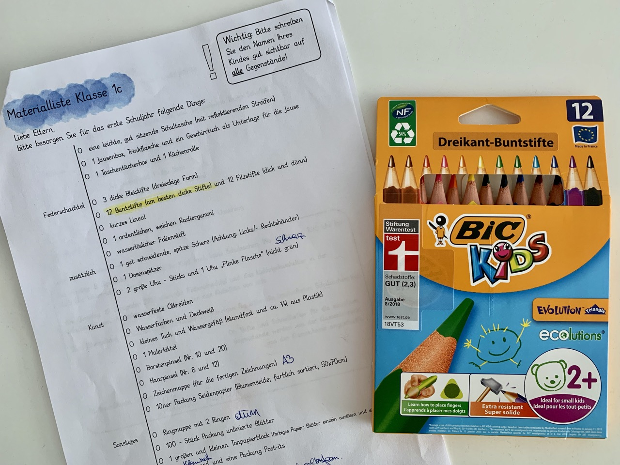 BIC Kids Stifte #natürlichbunt Gewinnspiel Farbstifte Test